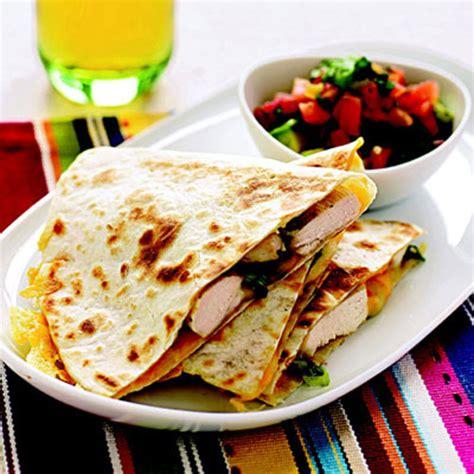 Chicken Quesadillas With Avocadotomato Salsa