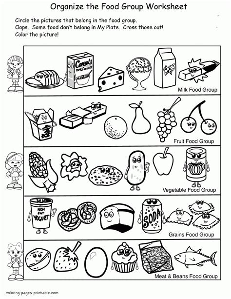 Printable Food Coloring Pages Free Printable Food Coloring Pages For