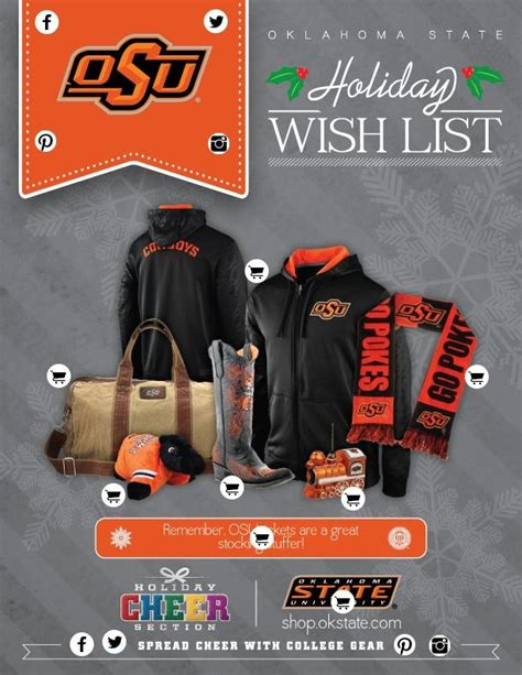 oklahoma state colors oklahoma state wish list by college colors