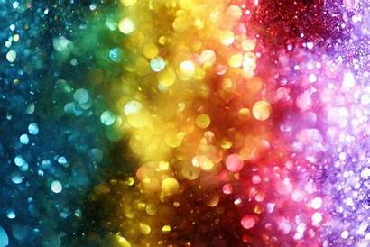 Glitter Colorful Rainbow Wallpapers Bokeh Lights Background