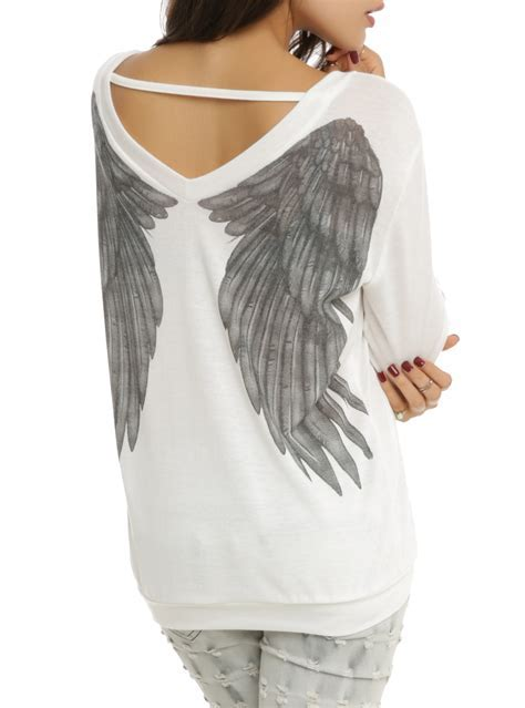 Angel Wing Sweater Top   Hot Topic