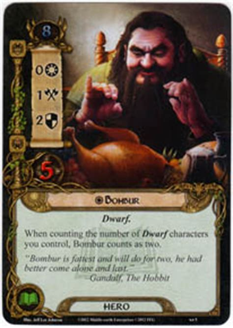lotr lcg deck lists bombur on the doorstep lord of the rings lcg lord of