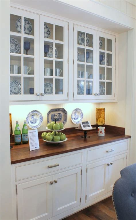 built in china cabinet southern living idea house breakfast area built in cabinet