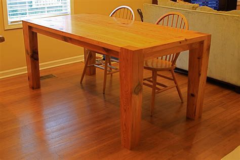 Modern Heart Pine Kitchen Table   by RobJones