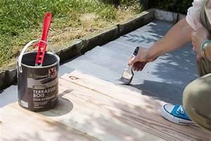 Peinture Sur Bois Exterieur : repeindre une terrasse en bois c t maison ~ Melissatoandfro.com Idées de Décoration