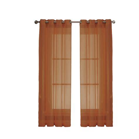 window elements sheer voile rust grommet