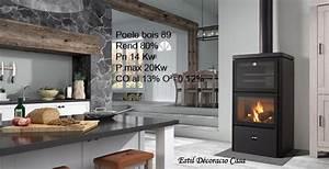 Poele à Bois Avec Four : un po le au bois de face avec four encastr pour cuisiner ~ Dailycaller-alerts.com Idées de Décoration