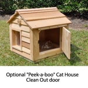 cat house cedar duplex cat house