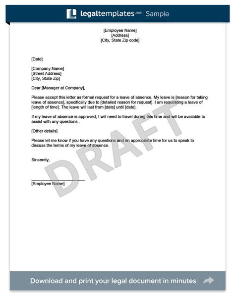 unpaid leave  absence letter  employer jidiletterco