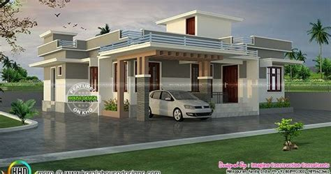 1200 sq-ft Rs.18 lakhs cost estimated house plan - Kerala
