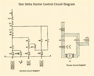Star Delta Starter Control  U0026 Power Circuit Diagram