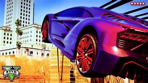 GTA 5 Online EPIC STUNT JUMP RACE   Completely Insane ...