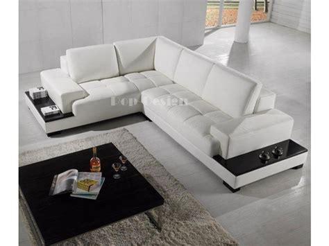 canapé rangement canapé d 39 angle design en cuir loretto avec casiers de