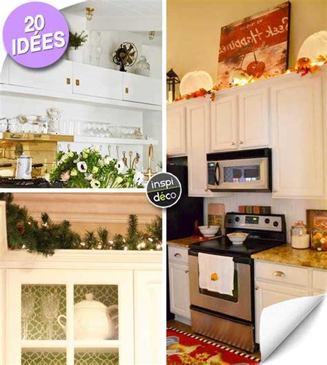 décorer le dessus des meubles de cuisine voici 20 idées
