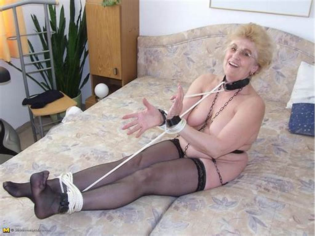 #Kinky #Granny #Loves #To #Get #Tied #Up