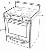 Oven Coloring Template Drawing Convection Sketch Pages Microwave Patent Patents Google sketch template