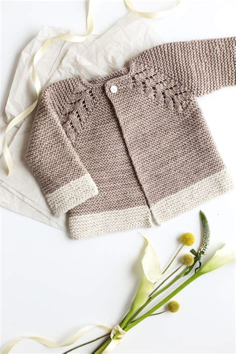 dress trico lovely knit top cardigan baby sweater flax twine