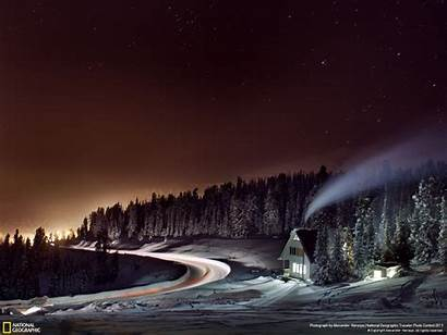 Geographic National Russia Nature Night Landscapes Backgrounds