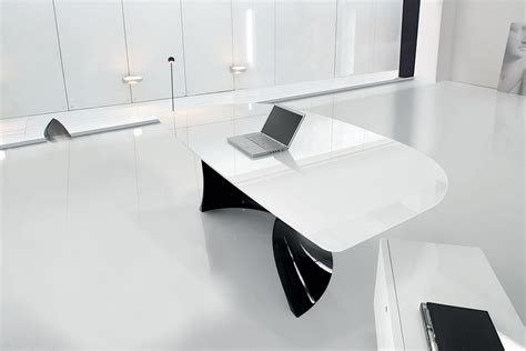 mobilier de bureau design italien bureau en verre blanc vente en ligne italy design