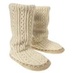 womens knitted boots uk oldnavy com 39 s cable knit slipper boots slippe polyvore