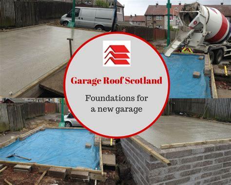 build  lay garage foundations  glasgow