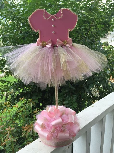 baby shower tutu centerpiece baby girl shower ideas