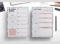 Elegant weekly planner , daily planner by Chic templates