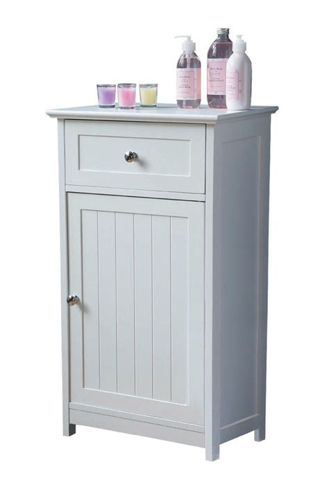 Floor Standing Bathroom Cupboard by Details About White Wooden Shaker Style Floor Standing