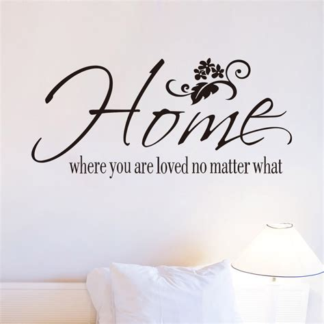 aliexpress buy free shipping wall decals quotes home where you are loved no matter