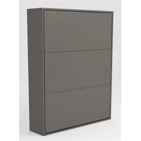 armoire lit escamotable stone 160x200 gris achat vente