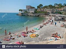 Cassis Beach Sea French Riviera Cote D'Azur France Stock