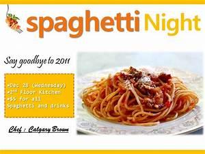 Spaghetti Night @ Hub SF! Tickets, Wed, Dec 28, 2011 at 6 ...