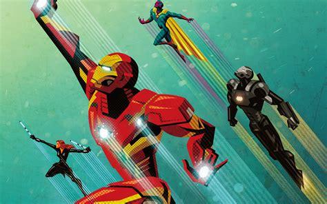 Civil War Artowork Iron Man Wallpapers