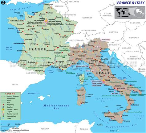 map  france  italy travelling