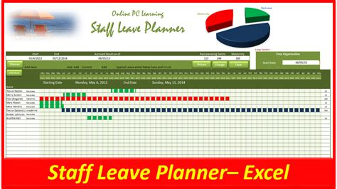 leave planner staff leave planner  pc learning