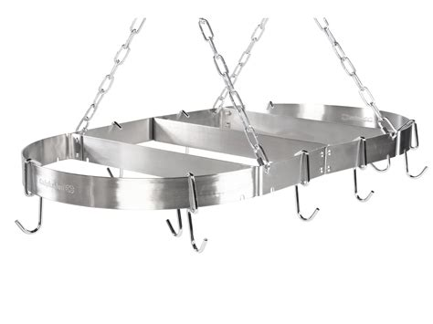 stainless steel pot rack calphalon stainless steel 18 x 36 pot rack shipped free at zappos