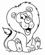 Coloring Lion Pages Cute Coloringville sketch template