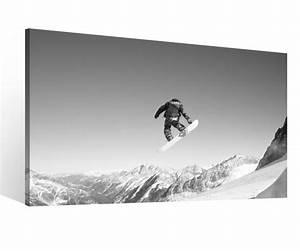 Schwarz Weiß Bilder Gerahmt : leinwand 1tlg xxl schnee sport snowboarden berg sprung schwarz wei leinwandbild bilder wandbild ~ Watch28wear.com Haus und Dekorationen