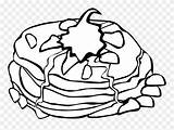 Clipart Cream Coloring Whipped Transparent Pancakes Pancake Breakfast Seekclipart Fast Pngitem sketch template