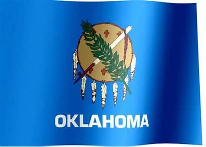 Oklahoma Flag State Waving Ok Flags Animated