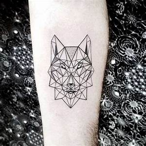 Tatouage Loup Geometrique : tatouage loup et t te de loup mod les et signification ~ Melissatoandfro.com Idées de Décoration