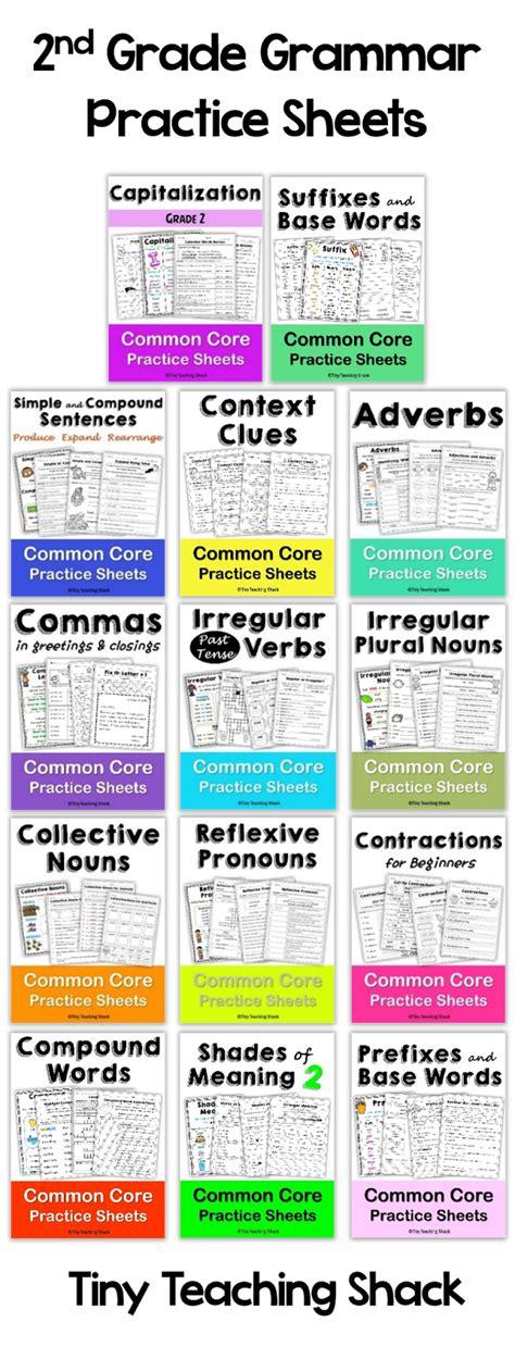 Tiny Teaching Shack Second Grade Grammar Practice Sheets