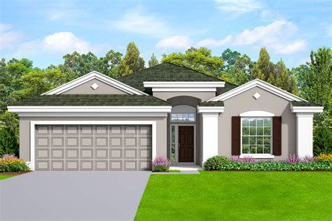 story house plan  stucco exterior ka architectural designs house plans