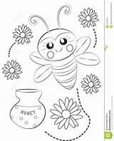 Coloring Bee Honeycomb Useful Printable Getcolorings Illustration sketch template