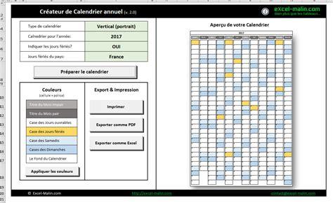 bureau d emploi bizerte pointage calendrier 2017 excel modifiable et gratuit excel malin com