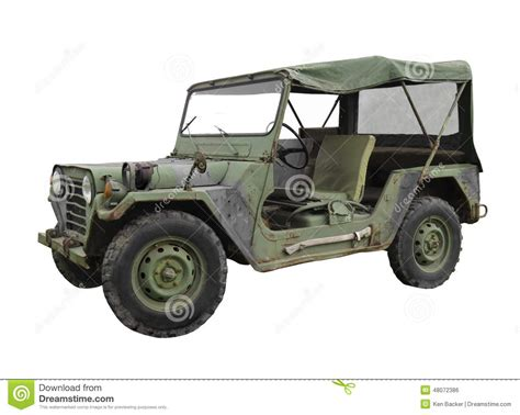 vintage military jeep old car military jeep from 1966 isolated on white stock