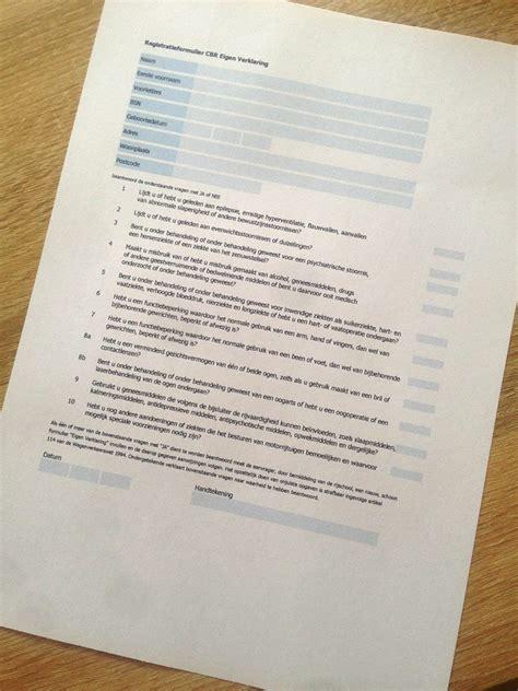 gezondheidsverklaring eigen verklaring autorijschool sanders samenopwegnaarjouwrijbewijs