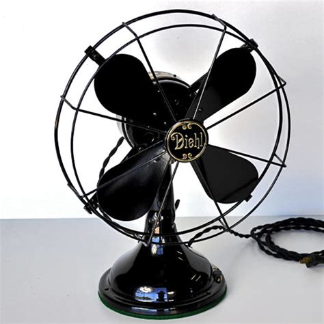 antique desk fan restoration 1928 32c diehl 12 quot 3 speed oscillating desk fan