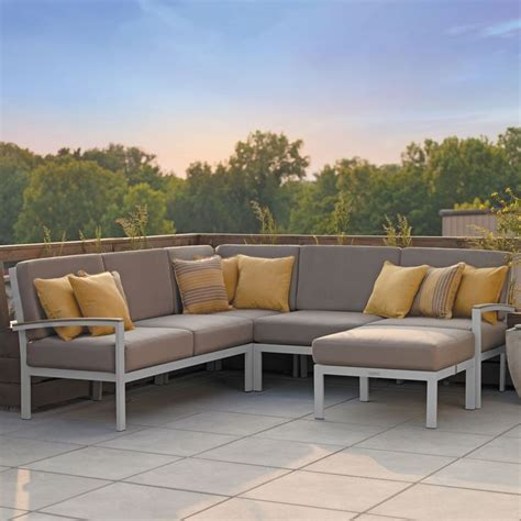Metal Outdoor Loveseat by Metal Outdoor Sofa Modern Metal Outdoor Sofas Allmodern