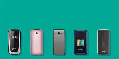 Flip Phones Mobile Slide